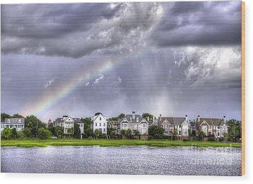 Charleston Rainbow Homes Wood Print by Dustin K Ryan