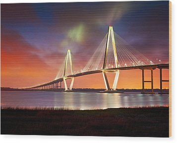 Charleston Sc - Arthur Ravenel Jr. Bridge Cooper River Wood Print