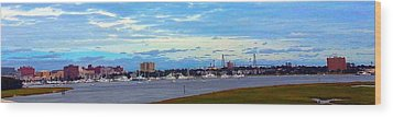 Charleston Sc City View Wood Print by Joetta Beauford