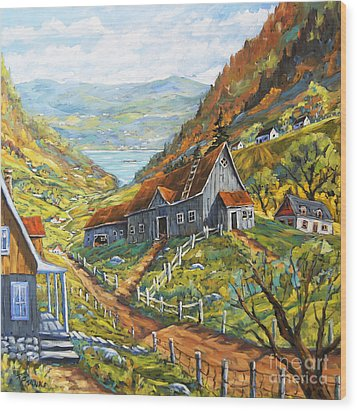Charlevoix Valley By Prankearts Wood Print by Richard T Pranke
