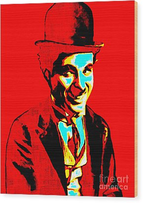 Charlie Chaplin 20130212 Wood Print by Wingsdomain Art and Photography