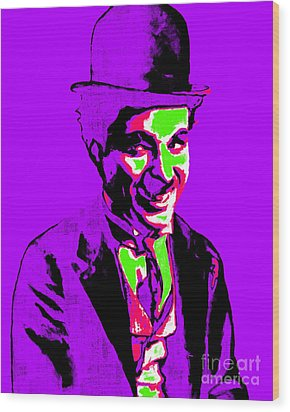 Charlie Chaplin 20130212m78 Wood Print by Wingsdomain Art and Photography