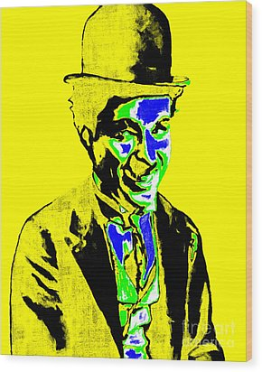Charlie Chaplin 20130212p60 Wood Print by Wingsdomain Art and Photography