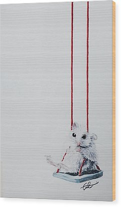 Charlie The Mouse Wood Print