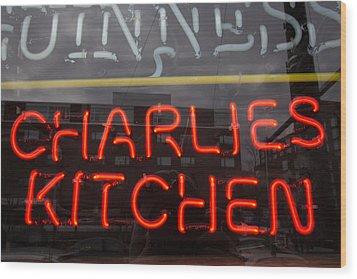 Charlies Kitchen Wood Print
