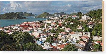 Charlotte Amalie Wood Print by Susan  Degginger