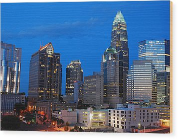 Wood Print featuring the photograph Charlotte At Night by James Kirkikis