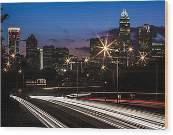 Charlotte Flow Wood Print by Chris Austin