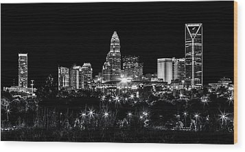 Charlotte Night Wood Print by Chris Austin