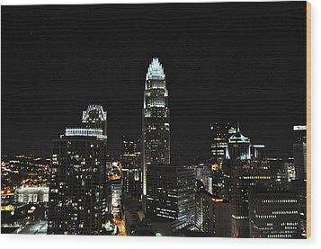 Charlotte Night Cnp Wood Print by Jim Brage