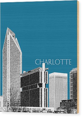 Charlotte Skyline 1 - Steel Wood Print by DB Artist