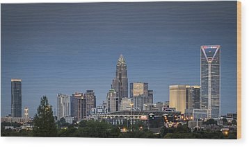 Charlotte Skyline - Clear Evening Wood Print by Brian Young