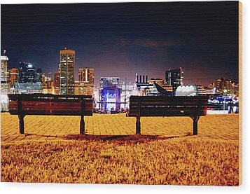 Charm City View Wood Print