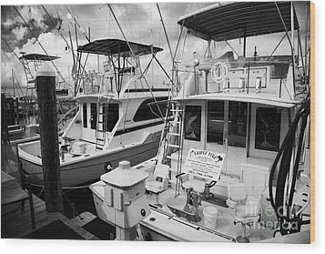 Charter Fishing Boats In The Old Seaport Of Key West Florida Usa Wood Print by Joe Fox