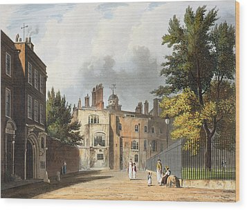 Charter House From The Square Wood Print by William Westall