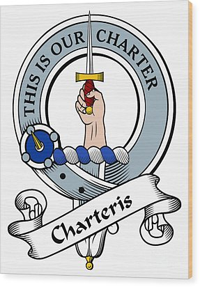 Charteris Clan Badge Wood Print by Heraldry