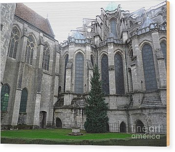 Wood Print featuring the photograph Chartres Cathedral by Deborah Smolinske