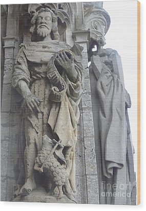 Wood Print featuring the photograph Chartres Cathedral Knight by Deborah Smolinske