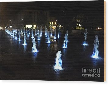 Wood Print featuring the photograph Chartres Street Fountains by Deborah Smolinske