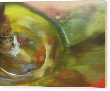 Wood Print featuring the photograph Chartreuse Series Abstract Xiv by Ginny Schmidt