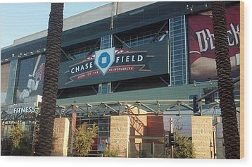 Chase Field Wood Print