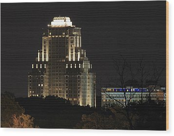 Chase Park Plaza From Art Hill Wood Print by Scott Rackers