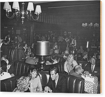 Chasen's Hollywood Restaurant Wood Print by Underwood Archives