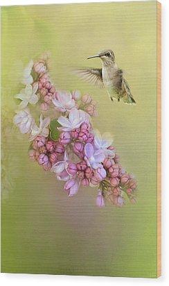 Chasing Lilacs Wood Print