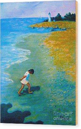 Chasing Shadows - 4 Wood Print by Gretchen Allen