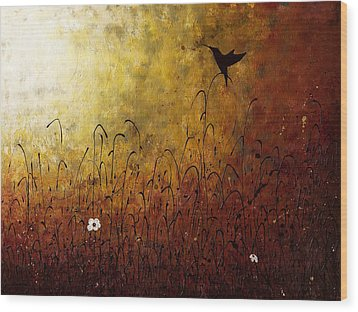 Chasing The Light Wood Print by Carmen Guedez