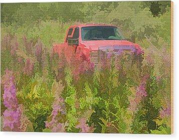 Chasing Wildflowers Wood Print
