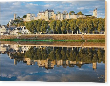 Chateau Above And Below Chinon  Wood Print by Kirk Strickland