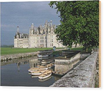 Chateau Chambord Boating Wood Print