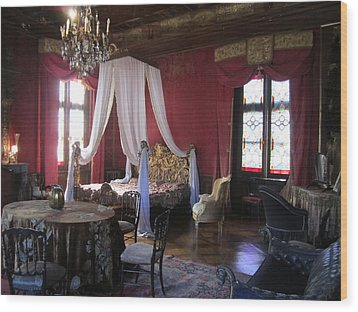 Wood Print featuring the photograph Chateau De Cormatin by Travel Pics