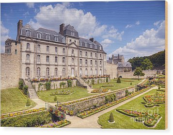 Chateau De L Hermine Vannes Brittany Wood Print by Colin and Linda McKie