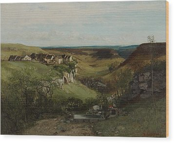 Chateau Dornans Wood Print by Gustave Courbet