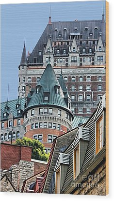 Chateau Frontenac Quebec Canada Wood Print by Polly Peacock
