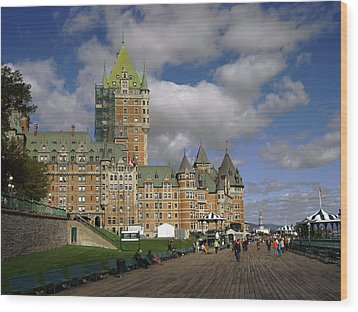 Chateau Frontenac Quebec City Wood Print