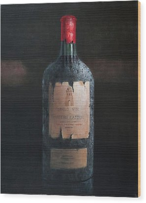 Chateau Latour Wood Print by Lincoln Seligman
