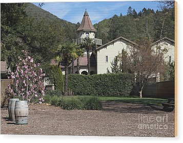 Chateau St. Jean Winery 5d22209 Wood Print by Wingsdomain Art and Photography