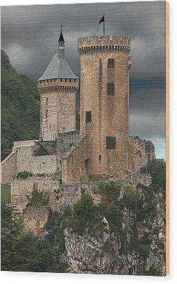 Chateau Tower Colour Wood Print
