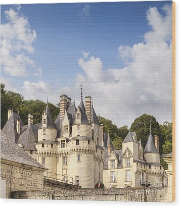 Chateau Usse Loire Valley France Wood Print by Colin and Linda McKie