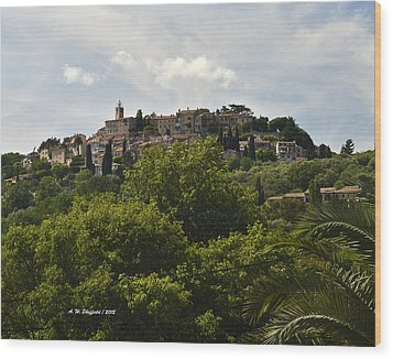 Chateauneuf Du Grasse Wood Print by Allen Sheffield