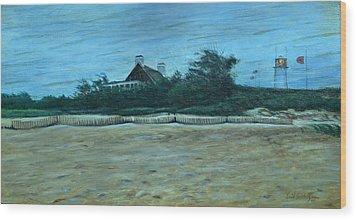 Chatham Lighthouse Wood Print by Erik Schutzman