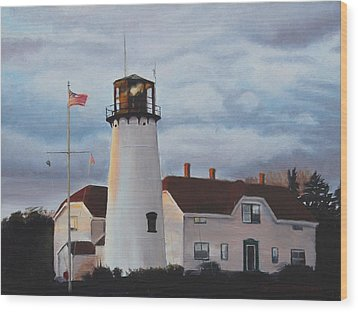 Chatham Lighthouse Wood Print by Sue Birkenshaw