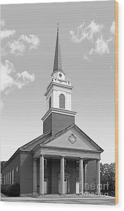 Chatham University Campbell Memorial Chapel Wood Print by University Icons