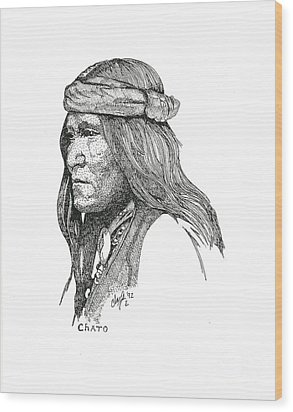 Chato Wood Print by Clayton Cannaday