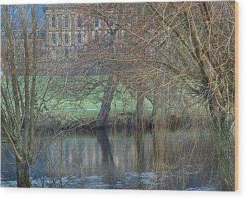 Chatsworth House December Wood Print by Jerry Daniel