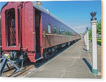 Wood Print featuring the photograph Chattanooga Choo Choo 1 by Susan  McMenamin
