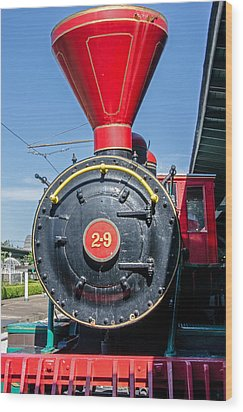 Wood Print featuring the photograph Chattanooga Choo Choo Steam Engine by Susan  McMenamin